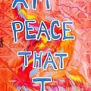 I Am Peace Art Print