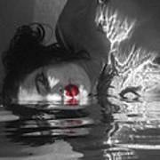 I Float On Red Art Print