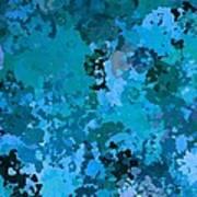 I Love Blue Art Print