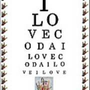 I Love Coda Eye Chart Art Print