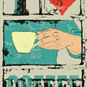 I Love Coffee. Coffee Typographical Art Print