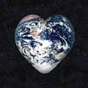 I Love Earth Art Print