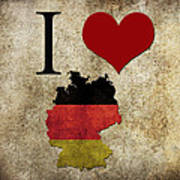 I Love Germany Art Print