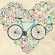I Love My Bike Art Print