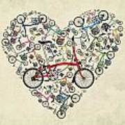 I Love My Brompton Art Print by Andy Scullion