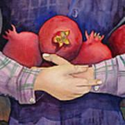 I Love Pomogranates Art Print
