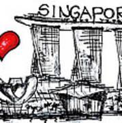 I Love Singapore Art Print