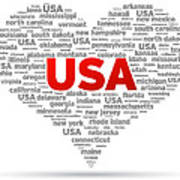 I Love Usa Art Print by Aged Pixel