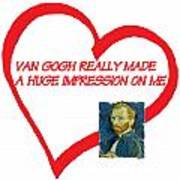 I Love Van Gogh Art Print