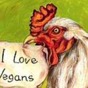 I Love Vegans Art Print