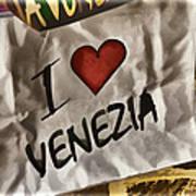 I Love Venezia Art Print
