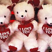 I Love You Bears Art Print