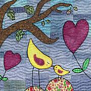 I Love You Art Print by Julie Bull