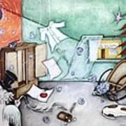 I Luv Grand-pa  Art Print by Belen Jauregui