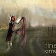 I Met An Angel On My Path Art Print