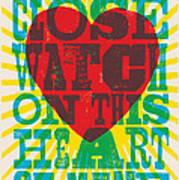 I Walk The Line - Johnny Cash Lyric Poster Art Print