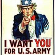 I Want You For U S Army Art Print