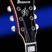 Ibanez Af75 Electric Hollowbody Guitar Headstock Art Print