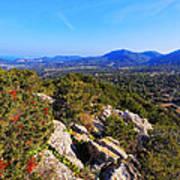 Ibiza Mountains Art Print