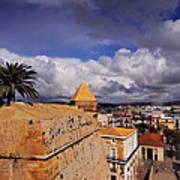 Ibiza Town Walls Art Print