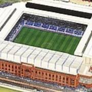 Ibrox Stadium Art Print