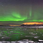 Ice And Auroras Art Print by Frank Olsen