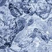 Ice Background Art Print