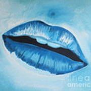 Ice Cold Lips Art Print