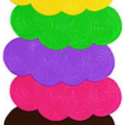 Ice Cream Shop 6 Scoops - Panorama Art Print