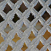 Ice Fence Art Print