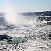 Ice Flows At Niagara Art Print
