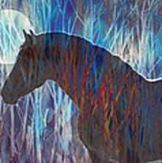 Ice Horse Art Print