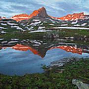 Ice Lakes Alpenglow Art Print