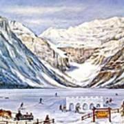 Ice Magic-lake Louise Winter Festival Art Print