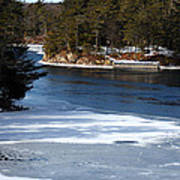 Ice On The St. Lawrence Art Print