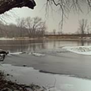 Ice River Art Print