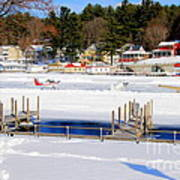 Planes On The Ice Runway In New Hampshire Art Print