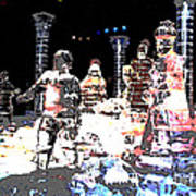 Ice Sculptured Nativity Scene Posterized Art Print