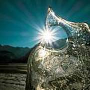 Ice With Sunburst Art Print
