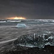 Iceberg Led Us Art Print