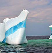 Iceberg Off The Coast Of Newfoundland Art Print