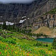 Iceberg Park Tarn Glacier National Park Montana Art Print