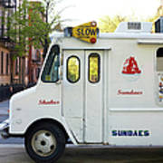 Icecream Truck On City Street Art Print
