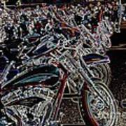 Iced Out Bikes Art Print