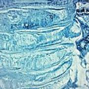 Icicle Abstract Triptych 2 Blue Print by Marie Spence