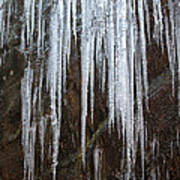 Icicles On A Cliff Art Print