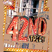 Iconic 42nd Street-nyc Print by Linda  Parker