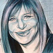 Iconic Barbra Streisand Art Print