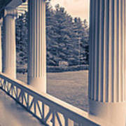Iconic Columns On An Estate Art Print