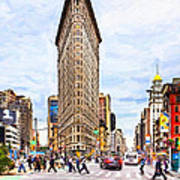 Iconic New York City Flatiron Building Art Print by Mark E Tisdale